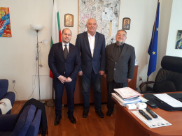 Средба на директорот на НУЦК Куманово, Сашо Тодоровски со заменик министер за култура на Република Бугарија, Румен Димитров (фотографија)
