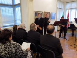 Концерт на Македонския брас квартет в КИЦ в София (фотография)