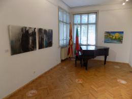 Изложба на Македонското учество во Меѓународната ликовна колонија во Созопол - Солеј (фотографија)