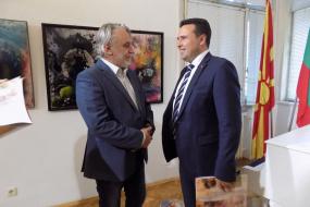 Работна посета на премиерот г-дин Зоран Заев во КИЦ на РСМ во Софија (фотографија)