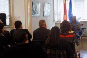 Матине по повод Меѓународниот фестивал за испеана поезија во КИЦ на РМ во Софија (фотографија)