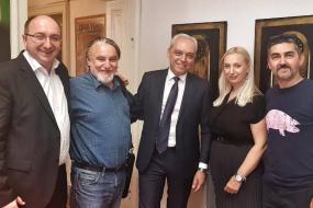Кметът на Oбщина Струмица в посещение на КИЦ на РСМ в София (фотография)