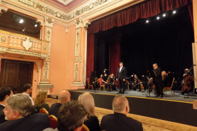 Концерт со учество на Гонца Богоромова Краповски по повод 70-годишнината на НАТО и коктел во КИЦ на РСМ во Софија (фотографија)