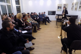 """Концерт """"Класиката го среќава Џезот"""" на Квартет тромбони во Музеј """"Борис Христов"""" во Софија (фотографија)"""
