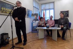 """Промоција на книгата """"Секој со своето езеро"""" на Ненад Јолдески во КИЦ во Софија (фотографија)"""