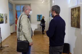 """Изложба """"Метафизички слики"""" во Културно-информативниот центар на Република Северна Македонија во Софија (фотографија)"""