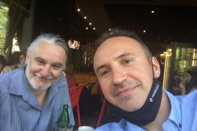 Симон Трпчески в КИЦ на РСМ в София (фотография)
