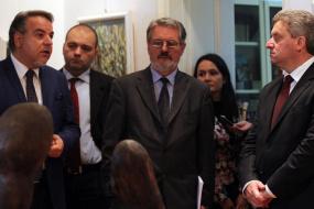 Посещение на Президента на Р. Македония Георге Иванов в КИЦРМ, София (снимка)