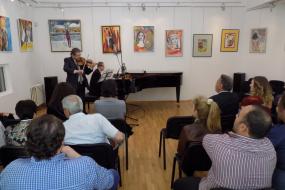 Концерт за виолина и пијано со македонските музички уметници и педагози Михајло Куфојанакис и Тодор Светиев (снимка)