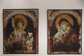 Изложба на репродукции на средновековни фрески (снимка)