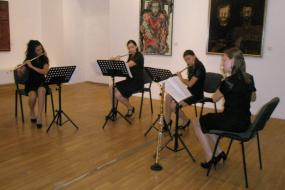 """Музикална Младеж на Македония, проект: Концерт на квартет флейти """"АУЛОС"""" (фотография)"""