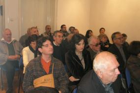"""НУ Библиотека """"Гоце Делчев"""" - Штип, проект: Промоција на книги, претставување на поети/писатели (фотографија)"""