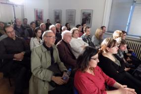 """Театарска претстава """"Синиот портокал"""", гостување на на НУЦК """"Јордан Хаџи-Константинов – Џинот"""" од Велес (фотографија)"""